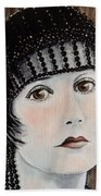 Beaded Flapper Hat Hand Towel