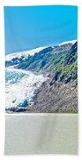 Bear Glacier Near Stewart-british Columbia  Bath Towel