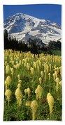 Bear Grass At Mt. Rainier - V Bath Towel