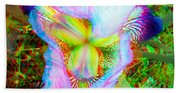 Bearded Iris Cultivar - Use Red-cyan 3d Glasses Hand Towel
