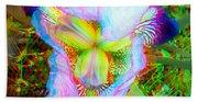 Bearded Iris Cultivar - Use Red-cyan 3d Glasses Bath Towel