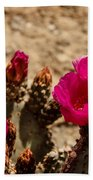 Beautiful Beavertail Cactus Bath Towel