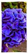 Beautiful Blue Hydrangea Bath Towel