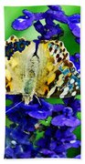Beautiful Butterfly On A Flower Bath Towel