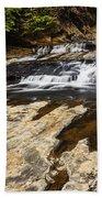 Beautiful Cascade In Western Ghats Karnataka India Bath Towel