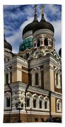 Beautiful Cathedral In Tallinn Estonia Bath Towel