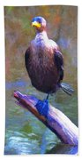 Beautiful Cormorant Bath Towel
