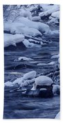 Beautiful Creek In Winter In Stanley Idaho Bath Towel