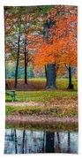 Beautiful Fall Foliage In New Hampshire Bath Towel