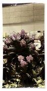 Beautiful Flowers Inside The Changi Airport In Singapore Bath Towel