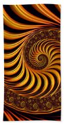 Beautiful Golden Fractal Spiral Artwork  Bath Towel