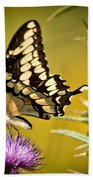 Beautiful Golden Swallowtail Bath Towel