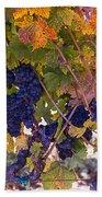 Beautiful Grape Harvest Bath Towel