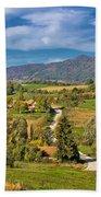 Beautiful Green Scenery Of Prigorje Region Bath Towel