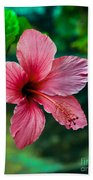 Beautiful Hibiscus Bath Towel