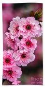 Beautiful Pink Blossoms Bath Towel