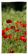 Beautiful Poppies 3 Bath Towel