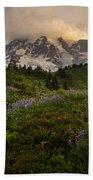 Beautiful Rainier Wildflower Meadows Bath Towel