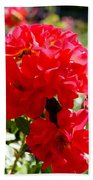 Beautiful Red Roses Bath Towel