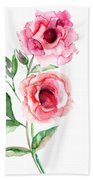 Beautiful Roses Flowers Bath Towel
