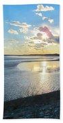 Beautiful Sunset Iowa River Bath Towel