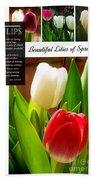 Beautiful Tulips Series 2 Bath Towel
