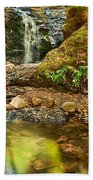 Beautiful View Of Upper Falls Located In Uvas Canyon County Park. Bath Towel
