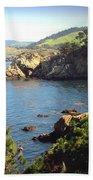 Beautifully Rugged Shoreline At Point Lobos Two Bath Towel