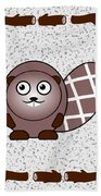 Beaver - Animals - Art For Kids Bath Towel