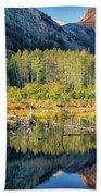 Beaver Lake Sierra Nevada Mountains Bath Towel