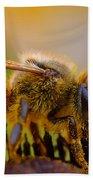 Bee Covered In Pollen Bath Towel