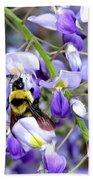 Bee In The Wisteria Bath Towel