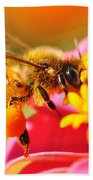 Bee Laden With Pollen 2 By Kaye Menner Bath Towel