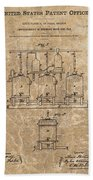 Beer Brewery Patent Illustration Bath Towel