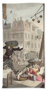 Beer Street, Illustration From Hogarth Bath Towel