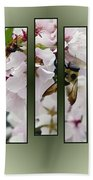 Bees And Blossoms Bath Towel