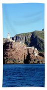 Behind Fort Amherst Rock 2 By Barbara Griffin Bath Towel