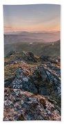 Sunset From Beinn Ghlas - Scotland Bath Towel