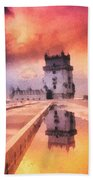 Belem Tower Bath Towel