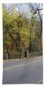 Bells Mill Road In Autumn Bath Towel