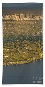 Bellvue Skyline At Sunset Bath Towel