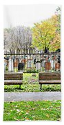 Benches By The Cemetery Bath Towel