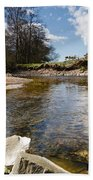 Bend In The Breamish River Bath Towel