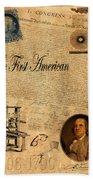 Benjamin Franklin Bath Towel