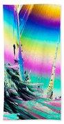 Benzoic Acid Microcrystals Coloful Abstract Art Bath Towel