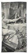 Beowulf Replies Haughtily To Hunferth Bath Towel