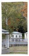 Berkeley Springs Bandstand In West Virginia Bath Towel