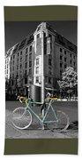 Berlin Street View With Bianchi Bike Bath Towel