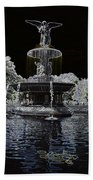 Bethesda Fountain Abstract Bath Towel