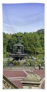 Bethesda Fountain V - Central Park Bath Towel